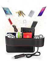 Недорогие -Многофункциональный ящик для хранения автокресло ПУ кожаный чехол карман автокресло боковой щели зарядное устройство кейс моделичерный