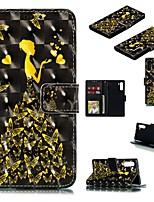 Недорогие -Кейс для Назначение SSamsung Galaxy Note 9 / Galaxy Note 10 / Galaxy Note 10 Plus Кошелек / Бумажник для карт / Защита от удара Чехол Бабочка / Соблазнительная девушка Кожа PU