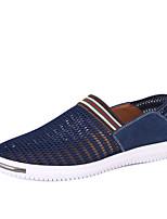 Недорогие -Муж. Комфортная обувь Сетка Лето Мокасины и Свитер Темно-синий / Серый