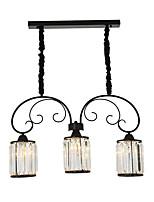 Недорогие -3-Light Кристаллы Люстры и лампы Рассеянное освещение Окрашенные отделки Металл 110-120Вольт / 220-240Вольт