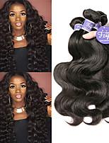 Недорогие -3 Связки Индийские волосы Естественные кудри Не подвергавшиеся окрашиванию Необработанные натуральные волосы Человека ткет Волосы Удлинитель Пучок волос 8-28 дюймовый Естественный цвет