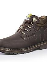 Недорогие -Муж. Комфортная обувь Наппа Leather Наступила зима Спортивные Ботинки Дышащий Ботинки Черный / Темно-русый / Темно-коричневый / Атлетический / на открытом воздухе