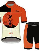 Недорогие -21Grams Пикассо Муж. С короткими рукавами Велокофты и велошорты - Черный / красный Велоспорт Наборы одежды Дышащий Быстровысыхающий Со светоотражающими полосками Виды спорта 100% полиэстер
