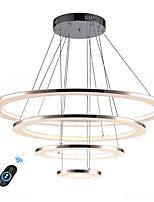 Недорогие -Ацилированная люстра led100w / современное интеллектуальное светодиодное освещение для гостиной, спальни, кафе-бара, затемняемого с пультом дистанционного управления / wifi, интеллектуальное голосовое
