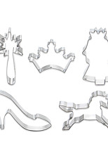 Недорогие -5 шт. Нержавеющая сталь Очаровательный Творчество Новогодняя тематика Повседневное использование Хлеб Печенье куб Формы для пирожных Пивные инструменты Десертные инструменты Инструменты для выпечки