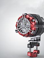 Недорогие -42 мм 30 Вт мотоцикл осветительные приборы фары супер яркий мотокросс вспомогательные стробоскопы