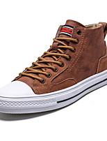 Недорогие -Муж. Комфортная обувь Полотно Лето Кеды Черный / Белый / Коричневый / на открытом воздухе