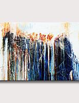 Недорогие -Hang-роспись маслом Ручная роспись - Абстракция Modern Без внутренней части рамки