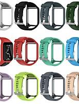 Недорогие -Ремешок для часов для TomTom Spark 3 / TomTom Runner 2 TomTom Классическая застежка силиконовый Повязка на запястье