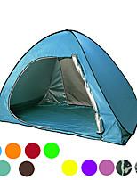 Недорогие -2 человека Тент для пляжа Семейный кемпинг-палатка На открытом воздухе Легкость С защитой от ветра Устойчивость к УФ Однослойный Автоматический Палатка 1000-1500 mm для