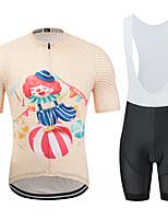 Недорогие -MUBODO Муж. С короткими рукавами Велокофты и велошорты-комбинезоны - Голубой + оранжевый Велоспорт Наборы одежды Дышащий Влагоотводящие Быстровысыхающий Виды спорта Тюль / Эластичная
