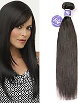 Недорогие -3 Связки Бразильские волосы Вытянутые Не подвергавшиеся окрашиванию Необработанные натуральные волосы Человека ткет Волосы Удлинитель Пучок волос 8-28 дюймовый Нейтральный Ткет человеческих волос