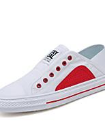 Недорогие -Муж. Комфортная обувь Полотно Весна На каждый день Кеды Дышащий Черный / Зеленый / Красный