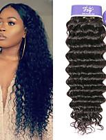 Недорогие -3 Связки Индийские волосы Глубокий курчавый Необработанные натуральные волосы 100% Remy Hair Weave Bundles Человека ткет Волосы Удлинитель Пучок волос 8-28 дюймовый Нейтральный Ткет человеческих волос