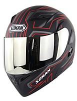 Недорогие -Зоман мотоциклетный уличный шлем анфас мотоциклетный шлем флип мото шлем красный гром Sm955