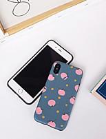 Недорогие -Кейс для Назначение Apple iPhone XS / iPhone XR / iPhone XS Max Ультратонкий / С узором Кейс на заднюю панель Продукты питания / Мультипликация ТПУ