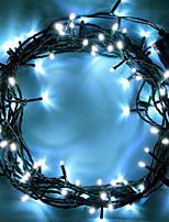 Недорогие -10 м Гирлянды 100 светодиоды Белый Декоративная 220-240 V 1 комплект