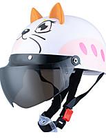 Недорогие -Дети летом использовать милый мультфильм шлем велосипед езда защитный защитный шлем с очками для катания на роликовых коньках беговые линзы