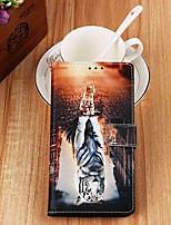 Недорогие -чехол для яблока iphone xr / iphone xs max кошелек / визитница / с подставкой для всего тела кошки&усилитель; Тигр искусственная кожа для iphone 6s / 6s plus / 7/7 plus / 8/8 plus / x / xs