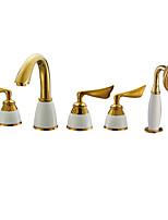 Недорогие -Смеситель для ванны Многослойное Другое Керамический клапан Bath Shower Mixer Taps