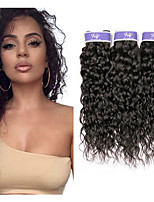 Недорогие -3 Связки Малазийские волосы Волнистые человеческие волосы Remy 100% Remy Hair Weave Bundles Человека ткет Волосы Удлинитель Пучок волос 8-28 дюймовый Нейтральный Естественный цвет