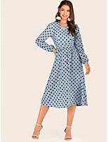 Недорогие -Жен. Оболочка Платье - Однотонный Средней длины