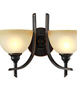 Недорогие -настенный светильник крытый настенный светильник деревенский дизайн 2 светильника бра для спальни коридор