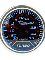 Недорогие -2 дюйма / 52 мм 12 В универсальный автоматический автомобильный измерительный комплект белый светодиодный 35 фунтов на квадратный дюйм турбонагнетатель вакуумметр
