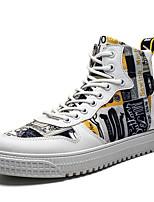 Недорогие -Муж. Комфортная обувь Полиуретан Лето Кеды Черный / Белый / Желтый