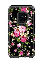 Недорогие -Кейс для Назначение SSamsung Galaxy S9 / S9 Plus Защита от удара Кейс на заднюю панель Цветы / Мрамор ТПУ / ПК