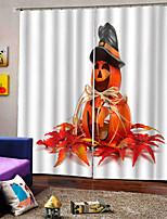 Недорогие -Творческий затемнение пользовательских оконных штор 3D цифровая печать Хэллоуин тема занавес гостиная / спальня студия ткань занавес