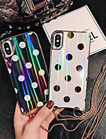 Недорогие -чехол для яблока iphone xs / iphone xr / iphone xs max / x / 6/7/8 / 6plus / 7plus / 8plus / 6s / 6s plus с узором на задней обложке цвет градиент искусственная кожа