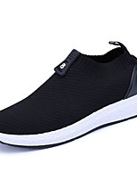 Недорогие -Муж. Комфортная обувь Сетка Наступила зима Мокасины и Свитер Черный / Черно-белый / Зеленый