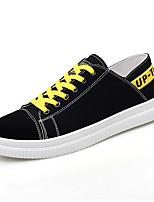 Недорогие -Муж. Комфортная обувь Полотно Весна лето На каждый день Кеды Черно-белый / Черный / Желтый / Белый