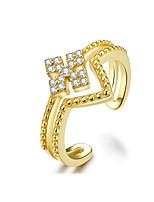 Недорогие -v-образный золотой палец кольца для женщин прозрачный cz двойные слои регулируемое кольцо свободный размер ювелирные изделия стерлингового серебра 925