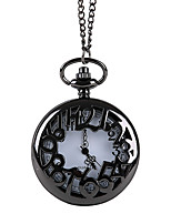 Недорогие -Муж. Карманные часы Кварцевый Старинный С гравировкой Творчество Новый дизайн Аналого-цифровые Винтаж - Черный