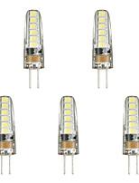 Недорогие -5шт 3w светодиодные фонари bi-pin g4 12 светодиодные бусы smd 3014 прекрасный теплый белый белый ac / dc12 v
