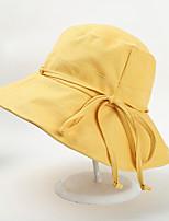 Недорогие -Жен. Активный Классический Симпатичные Стиль Шляпа от солнца Хлопок,Контрастных цветов Все сезоны Черный Розовый Желтый