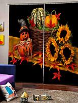 Недорогие -Домашний декоративный 3d цифровая печать фона шторы для спальни / гостиной затемнения пользовательские стержень комплект занавес готовые