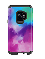 Недорогие -Кейс для Назначение SSamsung Galaxy S9 / S9 Plus Защита от удара Кейс на заднюю панель Градиент цвета ПК