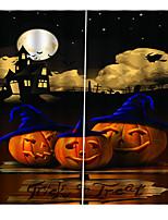 Недорогие -затемнение пылезащитные 100% полиэстер шторы 2019 новый 3d печать занавес готовый счастливый хэллоуин тема фон занавес