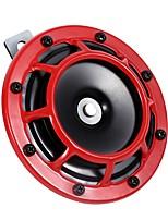 Недорогие -Труба держателя решетки рожка автомобиля 12v красная супер громкая двойная