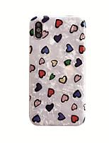 Недорогие -чехол для яблока iphone xs / iphone xr / iphone xs max ударопрочный / imd / шаблон задней крышки сердца ТПУ для iphone6 / 6s плюс iphone7 / 8 плюс iphonex / xs max / xr