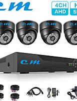 Недорогие -4-канальная камера видеонаблюдения 5-мегапиксельная камера видеонаблюдения в помещении полушария ракушка одна машина