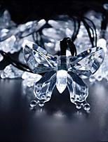 Недорогие -3M Гирлянды 104 светодиоды Тёплый белый / Белый / Красный Творчество / Декоративная / Новогоднее украшение для свадьбы 220 V 1шт
