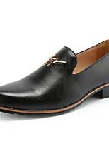 Недорогие -Муж. Комфортная обувь Полиуретан Лето Мокасины и Свитер Черный / Желтый / Вино