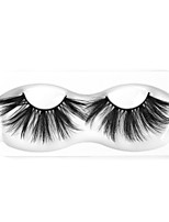 Недорогие -Наращивание ресниц одна пара ресниц накладные ресницы черные синтетические волокна наращивание ресниц глаза макияж w39