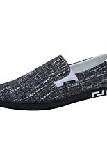 Недорогие -Муж. Комфортная обувь Полотно Лето Мокасины и Свитер Черный / Синий / Хаки / на открытом воздухе