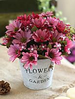 Недорогие -Искусственные Цветы 1 Филиал Классический европейский Пастораль Стиль Ромашки Хризантема Букеты на стол