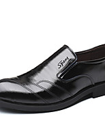 Недорогие -Муж. Официальная обувь Полиуретан Весна / Осень На каждый день Мокасины и Свитер Черный
